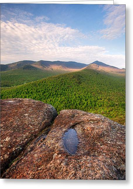 """adirondack Park"" Greeting Cards - Morning Light On Cascade Mountain Greeting Card by Panoramic Images"