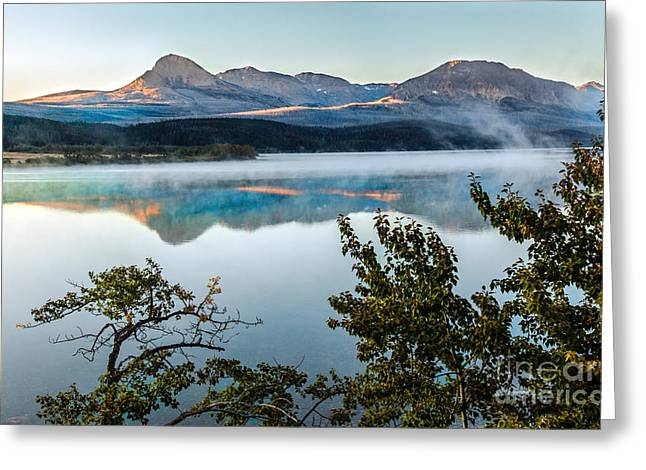Bale Greeting Cards - Morning Light on St. Mary Lake Greeting Card by Robert Bales