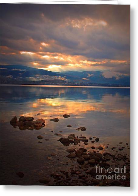 Penticton Greeting Cards - Morning Light on the Lake Greeting Card by Tara Turner