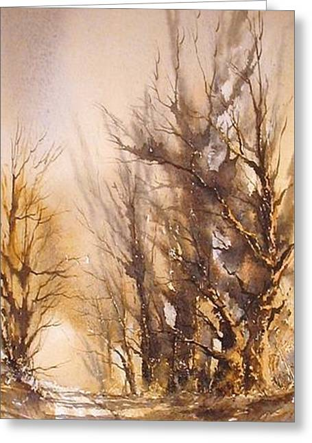 Morning Light Greeting Card by Roland Byrne