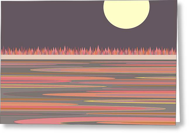 Moonrise Greeting Cards - Morning LIght Greeting Card by Val Arie