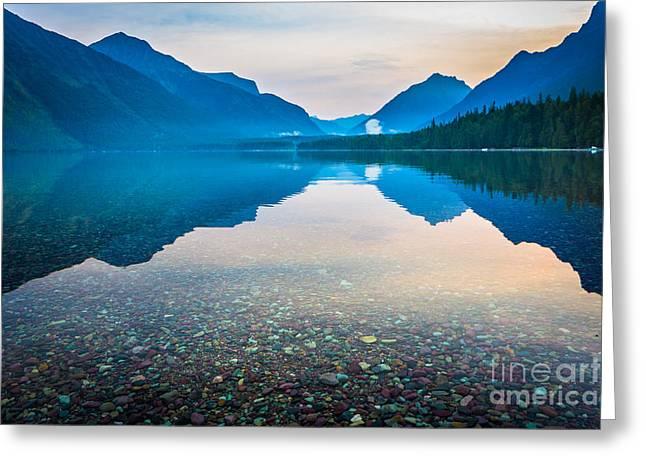Lake Mcdonald Greeting Cards - Morning Magic Greeting Card by Inge Johnsson