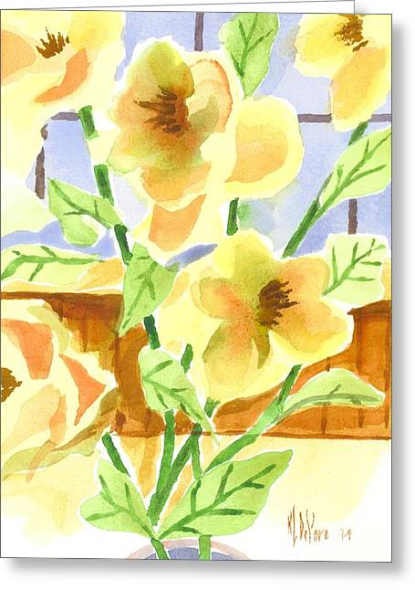 Green And Yellow Greeting Cards - Morning Magnolias 2 Greeting Card by Kip DeVore