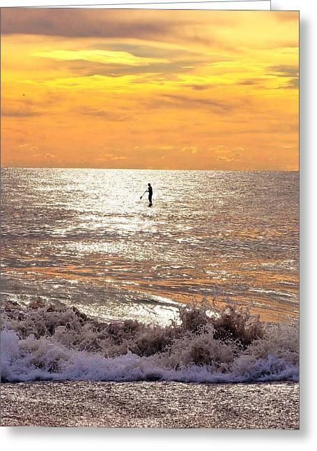 Bethany Beach Greeting Cards - Sunrise Solitude Greeting Card by Kim Bemis