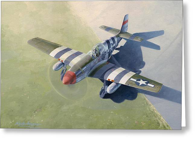 Fighters Paintings Greeting Cards - Morning Mission Greeting Card by Wade Meyers