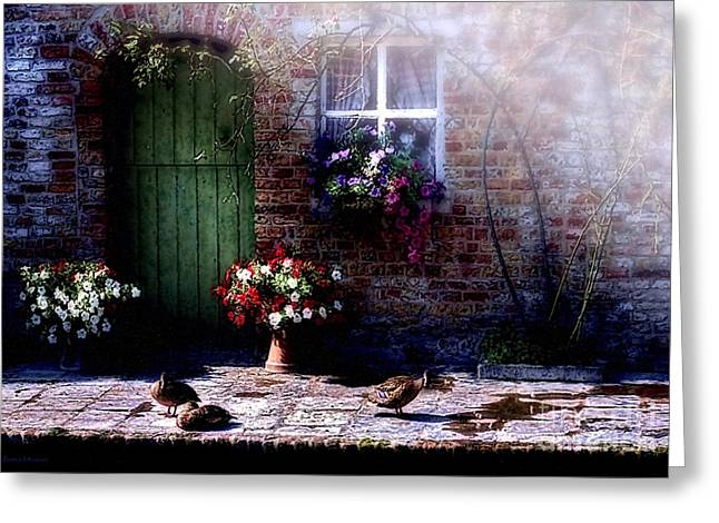 Sunlit Door Greeting Cards - Morning Mist Greeting Card by Barbara D Richards