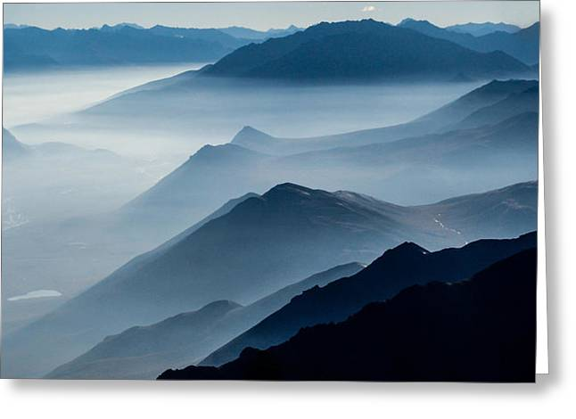 Rugged Greeting Cards - Morning Mist Greeting Card by Chad Dutson