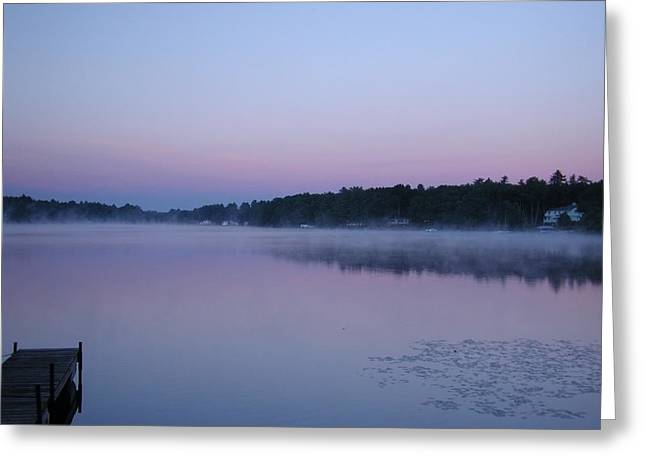 Scenic New England Greeting Cards - Morning mist Greeting Card by Jeff Folger