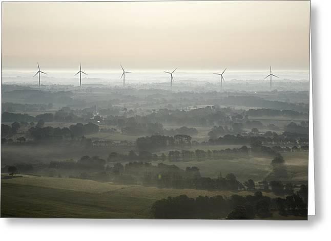 Generators Greeting Cards - Morning Mist, Sarzeau Greeting Card by Laurent Salomon