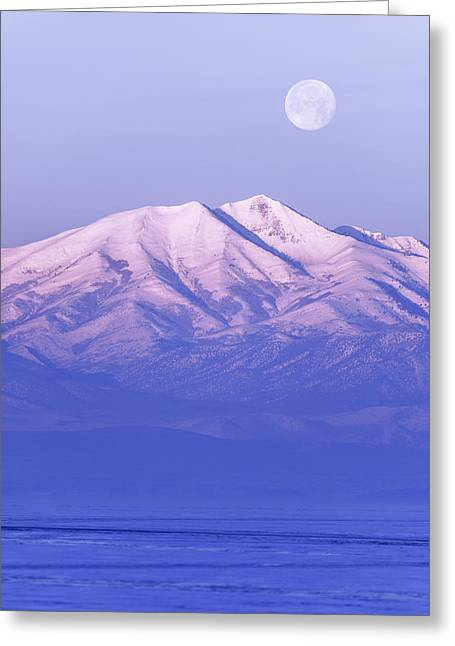 American West Greeting Cards - Morning Moon Greeting Card by Chad Dutson