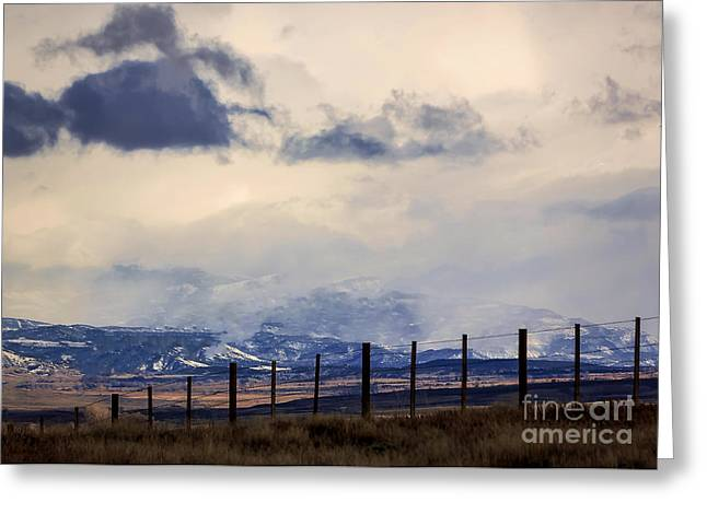 Beautiful Greeting Cards - Morning Mountain Snow Greeting Card by Janice Rae Pariza