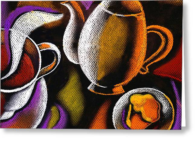 Morning Muffin Greeting Card by Leon Zernitsky