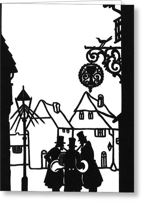 Morning Music Silhouette 1880 Greeting Card by Padre Art