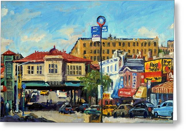 Morning On 231st Street The Bronx Greeting Card by Thor Wickstrom