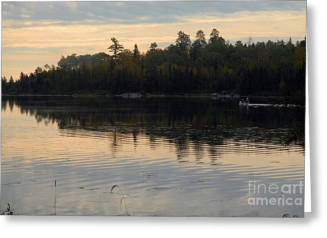 Morning On Boot Lake Greeting Card by Larry Ricker