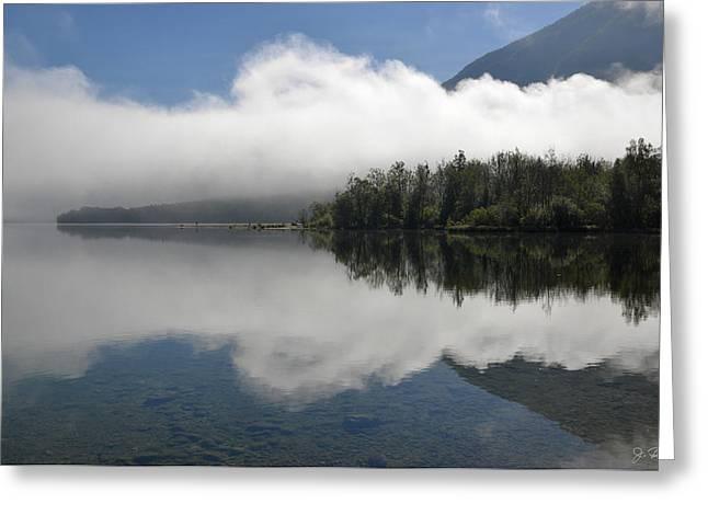 Bohinj Lake Greeting Cards - Morning on Lake Bohinj Greeting Card by Joe Bonita