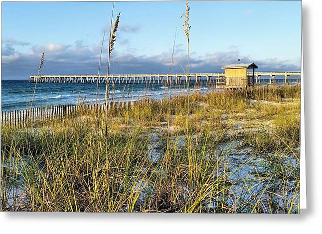 Navarre Beach Greeting Cards - Morning on Navarre Beach Greeting Card by JC Findley