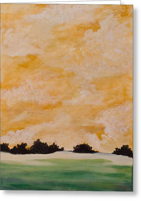 Morning On Shell Island Greeting Card by April Moran