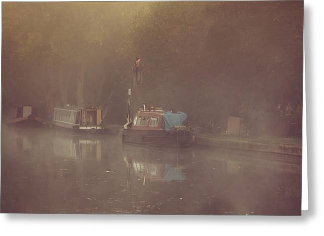 Clinton Greeting Cards - Morning on the barges Greeting Card by Chris Fletcher