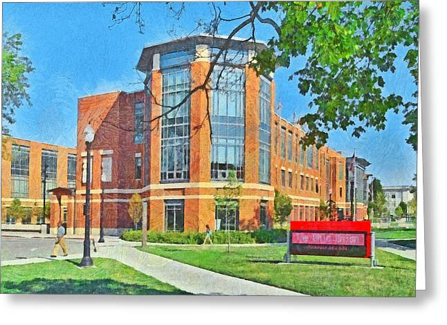 Student Union Greeting Cards - Student Union. The Ohio State University Greeting Card by Digital Photographic Arts