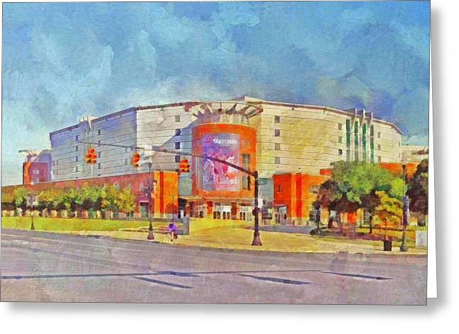 Basket Ball Game Greeting Cards - The Schottenstein Center.  The Ohio State University Greeting Card by Digital Photographic Arts