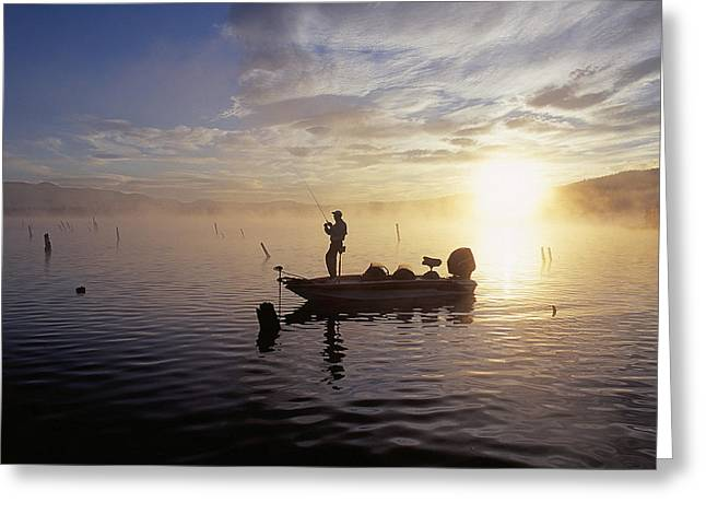 Fishing Tournaments Greeting Cards - Morning On The Lake Greeting Card by Buddy Mays