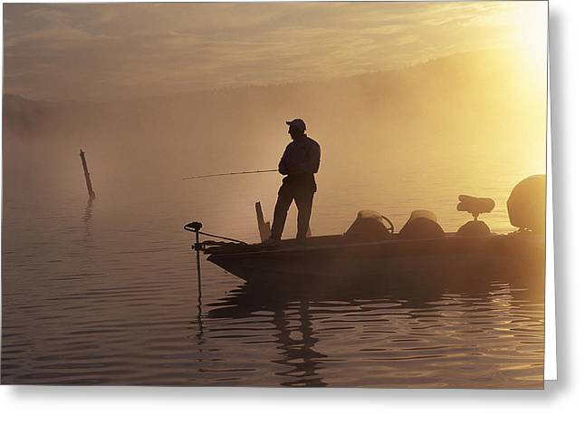 Fishing Tournaments Greeting Cards - Morning On The Lake II Greeting Card by Buddy Mays