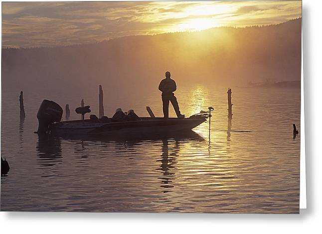 Fishing Tournaments Greeting Cards - Morning On The Lake III Greeting Card by Buddy Mays