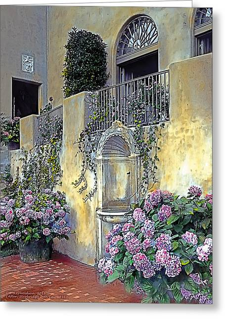 Tasteful Paintings Greeting Cards - Morning on the Palazzo Greeting Card by Terry Reynoldson