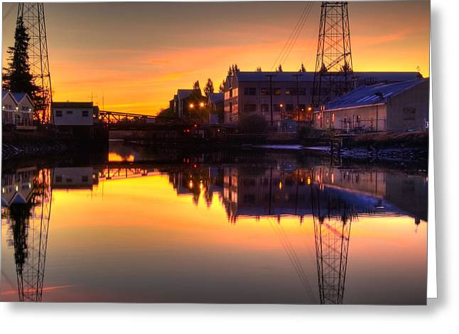 Sonoma County Greeting Cards - Morning on the River Greeting Card by Bill Gallagher