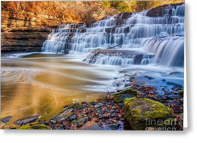 Plunge Greeting Cards - Morning on the Upper Falls Greeting Card by Anthony Heflin