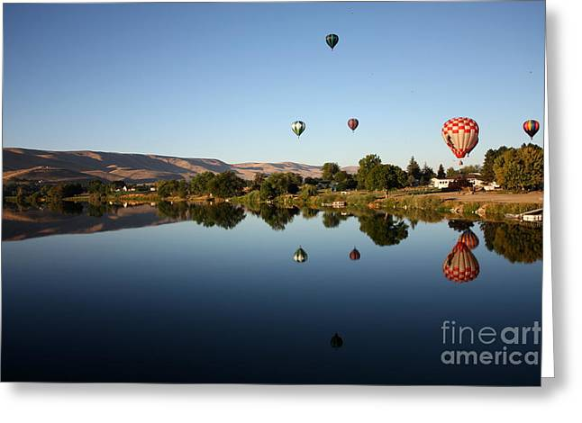 Yakima Valley Greeting Cards - Morning on the Yakima River Greeting Card by Carol Groenen