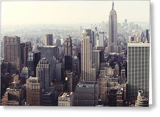 Union Terrace Greeting Cards - Morning Over Midtown Greeting Card by Randy Lemoine