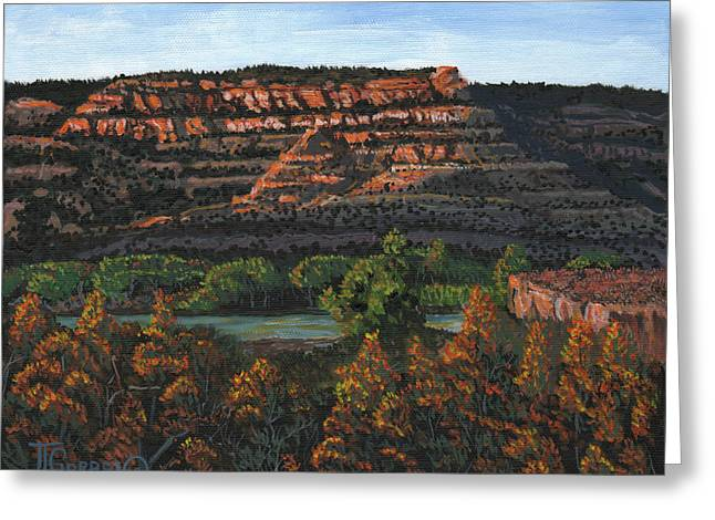 Morning Over The Bluffs Greeting Card by Timithy L Gordon