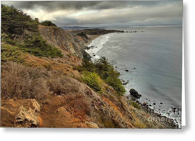Big Sur California Greeting Cards - Morning Pacific Storm Clouds Greeting Card by Adam Jewell