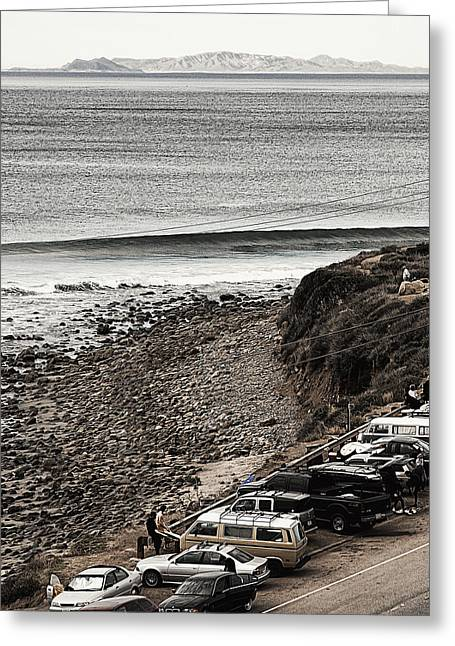 On The Beach Digital Greeting Cards - Morning Patrol at County Line Greeting Card by Ron Regalado