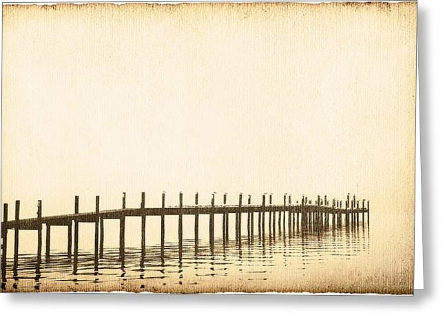 Evening Wear Photographs Greeting Cards - Morning Pier Greeting Card by Skip Nall