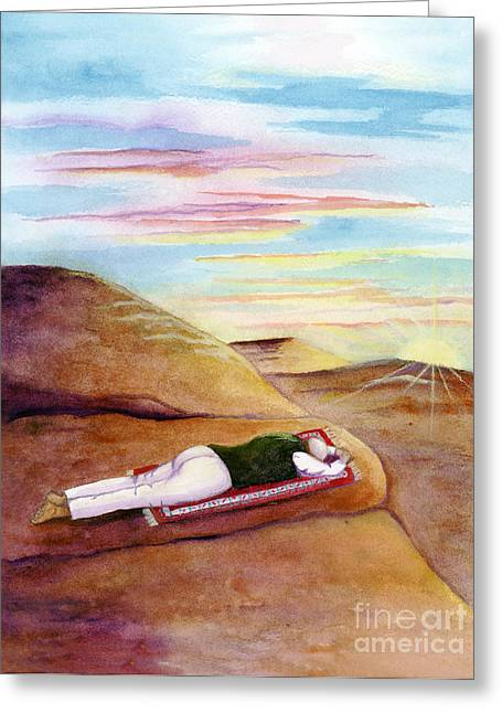 Prostration Greeting Cards - Morning Prayer Greeting Card by L T Sparrow