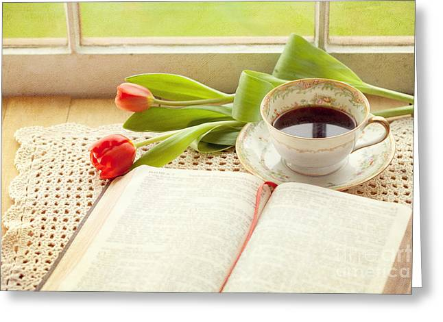 Morning Psalms Greeting Card by Kay Pickens