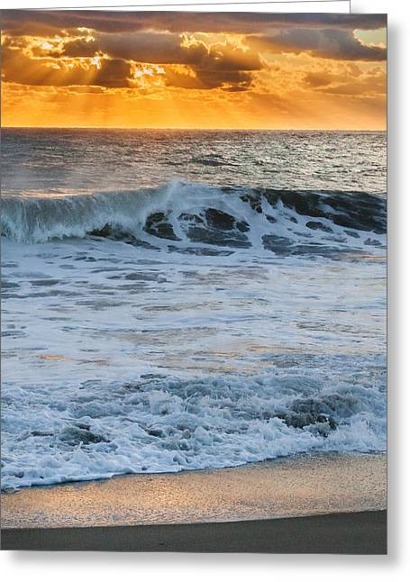 Rays Of Light Greeting Cards - Morning Rays Square Greeting Card by Bill  Wakeley