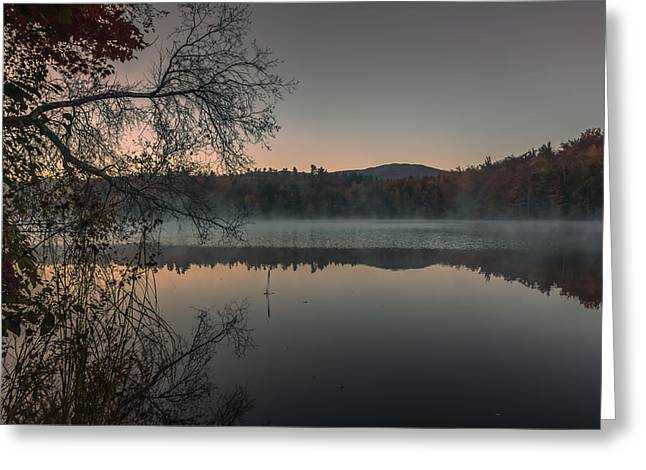 New Hampshire Leaves Greeting Cards - Morning reflections in Dublin Greeting Card by Chris Fletcher
