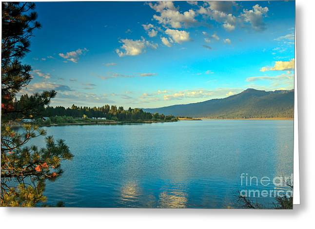 Morning Reflections On Lake Cascade Greeting Card by Robert Bales