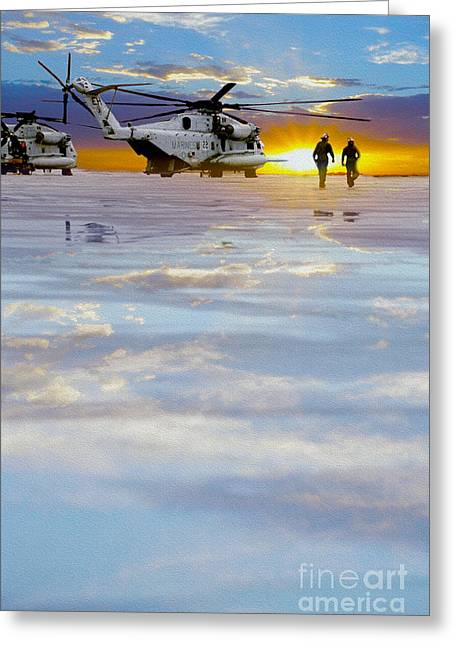 Aircraft Carrier Greeting Cards - Morning Run Greeting Card by Jon Neidert