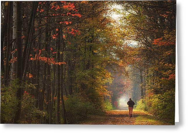 Morning Run Greeting Card by Michele Steffey