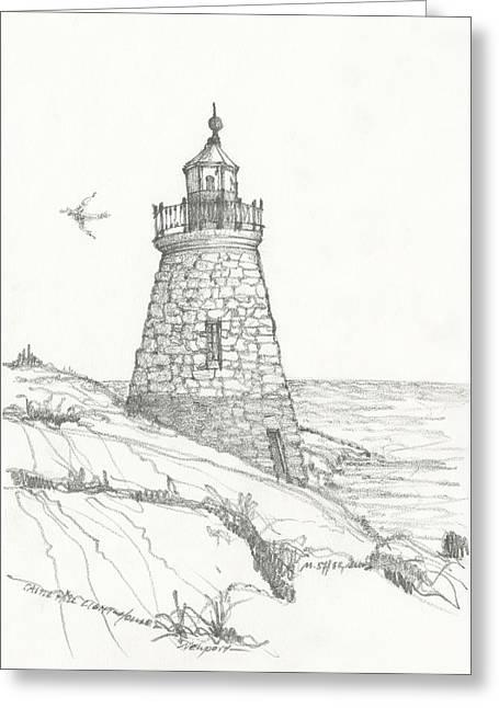 Reflecting Water Drawings Greeting Cards - Morning Sea Greeting Card by Michael Shegrud