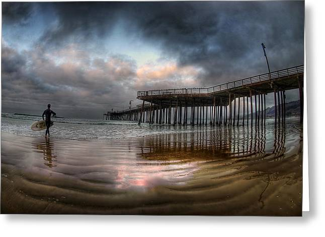 Morning Session In Pismo Greeting Card by Sean Foster
