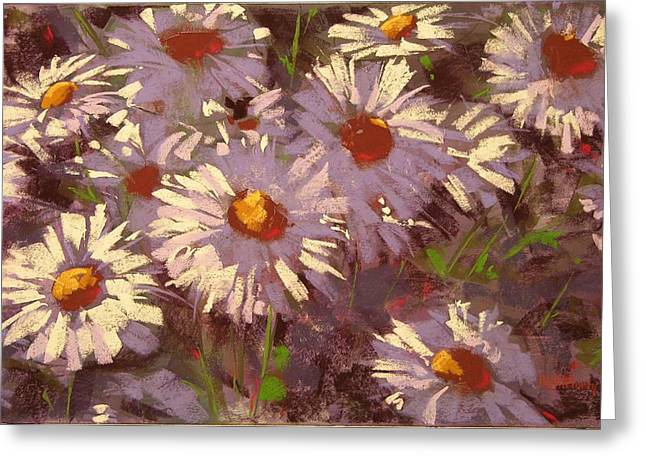 Petals Pastels Greeting Cards - Morning Shastas Greeting Card by Mary McInnis