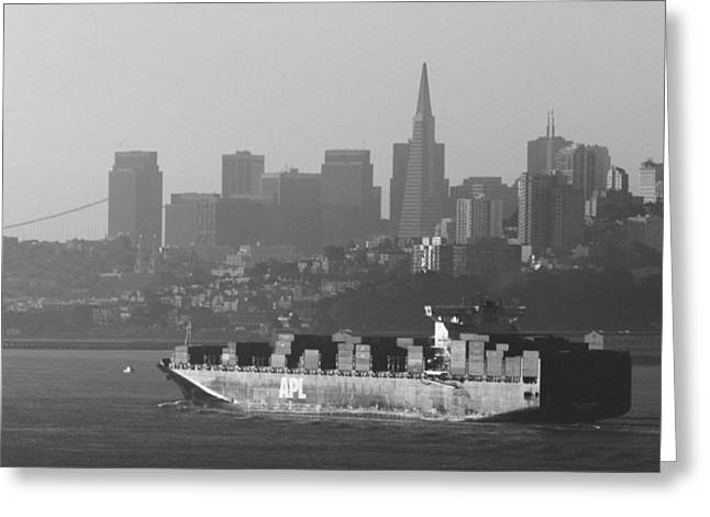 Downtown San Francisco Greeting Cards - Morning Shipment Greeting Card by Bryant Coffey