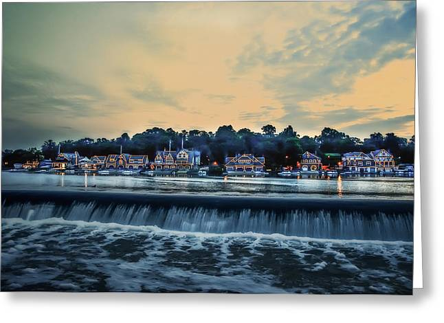 Bill Cannon Photography Greeting Cards - Morning Skies on Boathouse Row Greeting Card by Bill Cannon