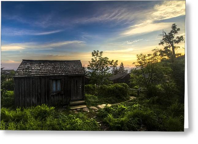 Tennessee Farm Greeting Cards - Morning Sky Over Mt. LeConte Greeting Card by Debra and Dave Vanderlaan